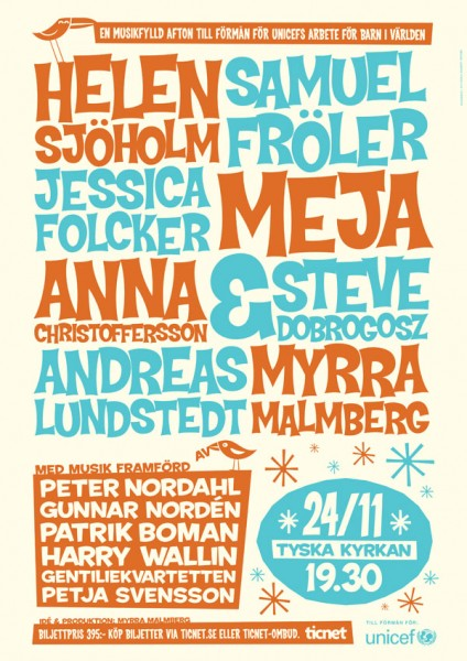 Benefit concert poster 2008