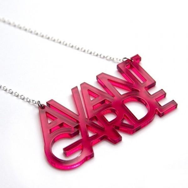 Avant Garde necklace from Plastique.