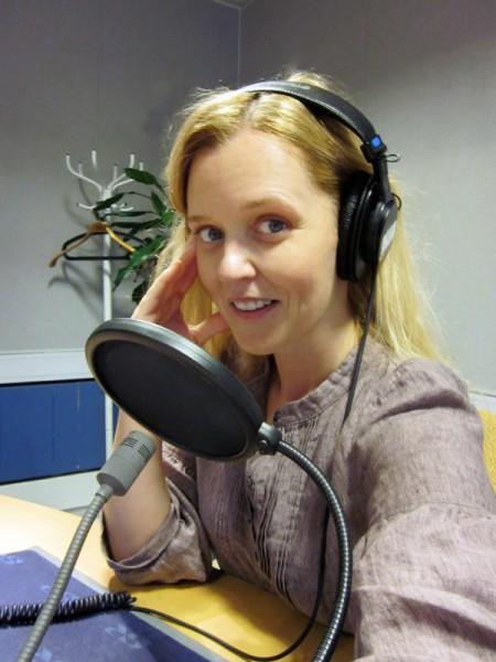 Myrra at the radio station.